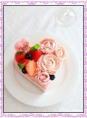 ハート、ケーキ